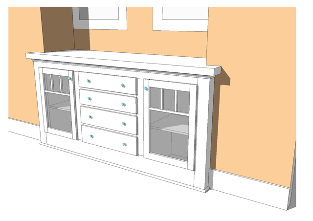 Built in buffet cabinet ideas for Built in cabinet design